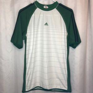 adidas Shirts | Adidas Mens White Green Soccer Jersey S | Poshmark